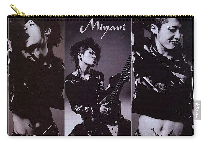Miyavi Carry-all Pouch featuring the digital art Miyavi by Mery Moon