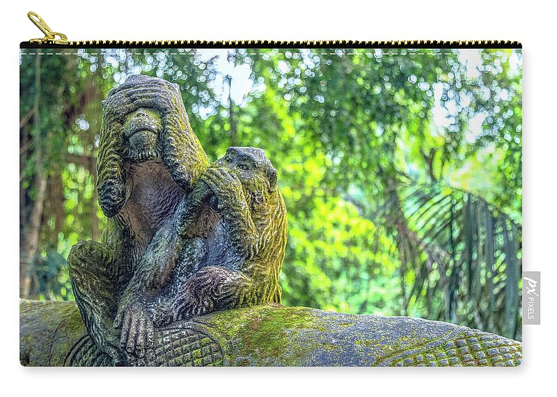 Monkey Forest Carry-all Pouch featuring the photograph Monkey Forest Ubud - Bali by Joana Kruse