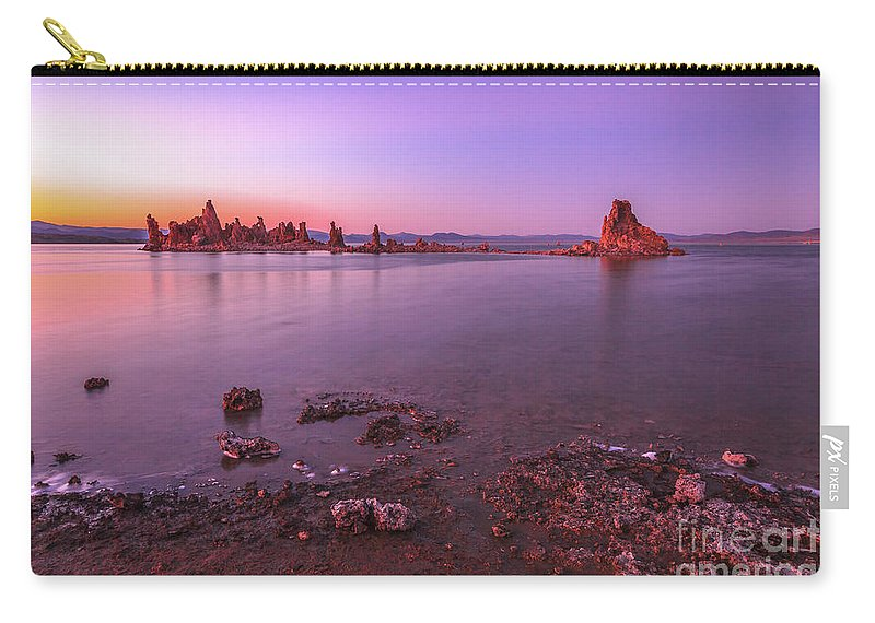 Mono Lake Carry-all Pouch featuring the photograph Mono Lake Sunset by Benny Marty