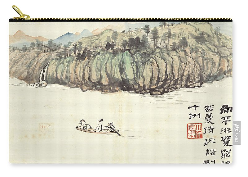 Mountain Landscape Carry-all Pouch featuring the painting Mountain Landscape by Zhang Daqian