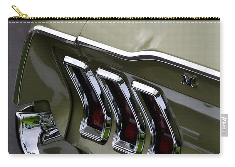 Carry-all Pouch featuring the photograph Mustang Fastback by Dean Ferreira
