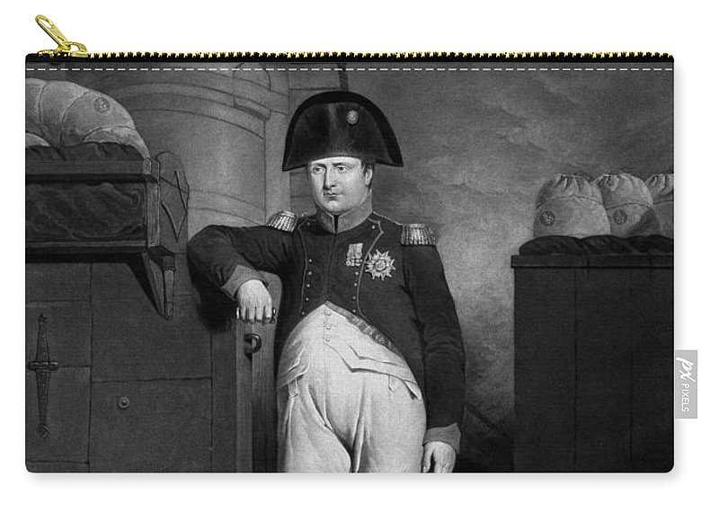 Napoleon Carry-all Pouch featuring the mixed media Napoleon Bonaparte by War Is Hell Store