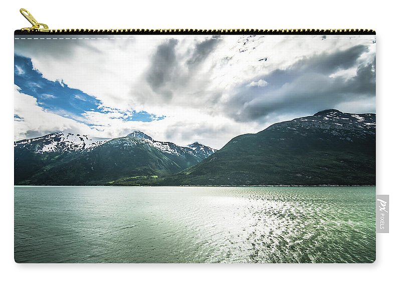 Skagway Carry-all Pouch featuring the photograph Nature And Mountains Around Skagway Alaska by Alex Grichenko