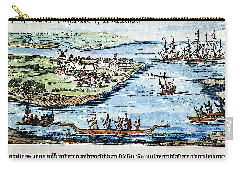 1651 Carry-all Pouch featuring the photograph New Amsterdam by Granger