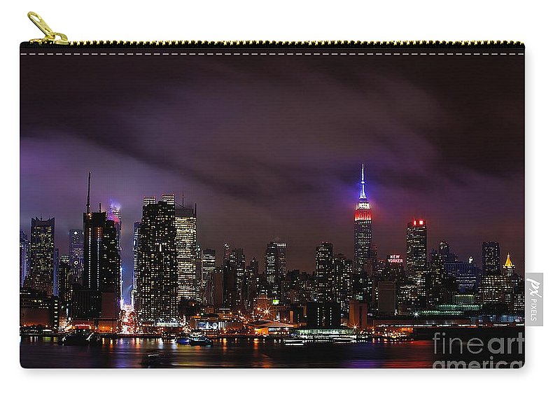 Nyc Carry-all Pouch featuring the photograph New York City Skyline by MingTa Li