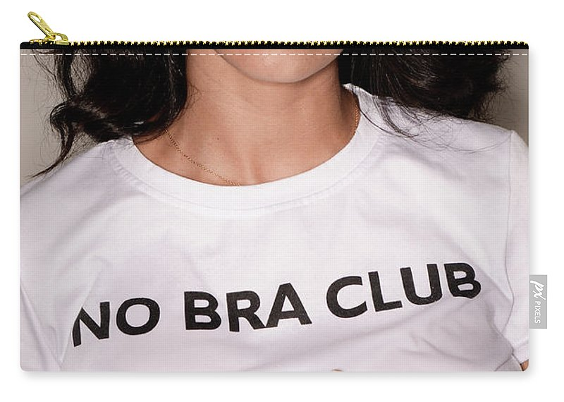 4fe7117096 Attractive Carry-all Pouch featuring the photograph No Bra Club by Jt  PhotoDesign