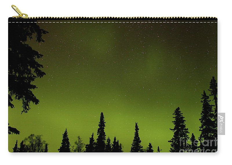 Aurora Carry-all Pouch featuring the photograph Northern Glow by Rick Monyahan