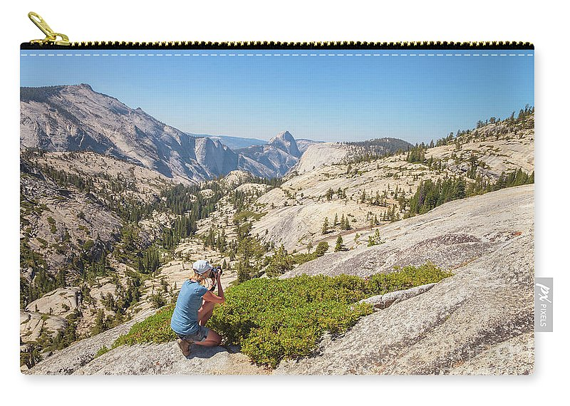 Yosemite Carry-all Pouch featuring the photograph Olmsted Point Shooting by Benny Marty
