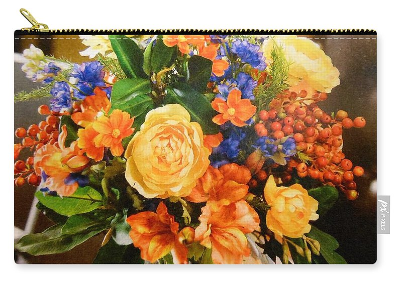 Flowers Carry-all Pouch featuring the photograph Orange by Lord Frederick Lyle Morris - Disabled Veteran
