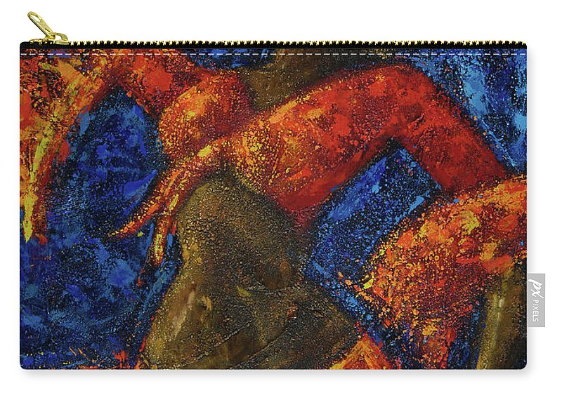 Dancer Carry-all Pouch featuring the painting Passion by Oscar Ortiz