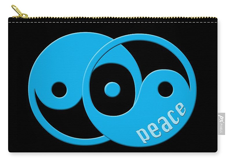 Graphic Art Carry-all Pouch featuring the photograph Peace by Bill Owen
