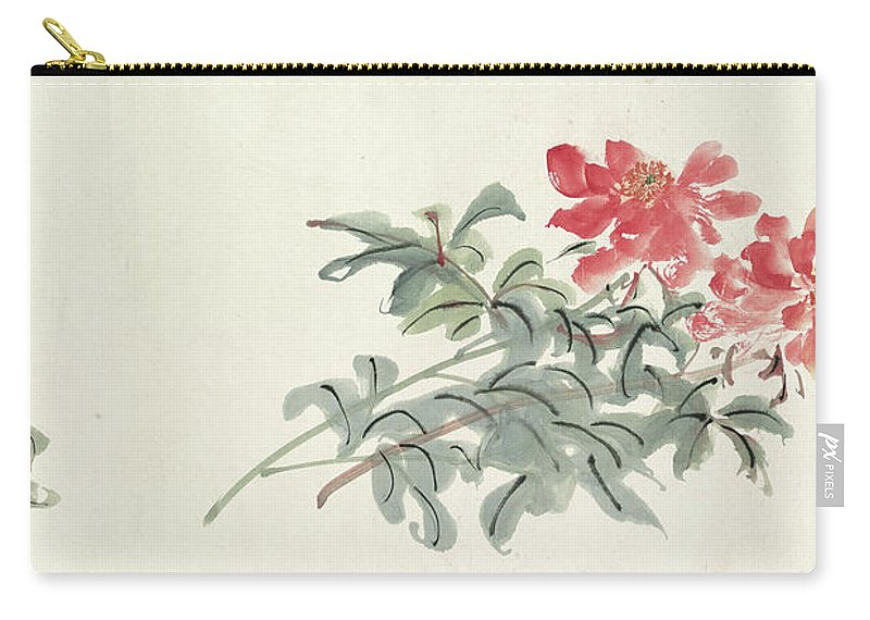 Zhang Daqian (10 May 1899 – 2 April 1983) Was One Of The Best-known And Most Prodigious Chinese Artists Of The Twentieth Century. Originally Known As A Guohua (traditionalist) Painter Carry-all Pouch featuring the painting Peony by Zhang Daqian