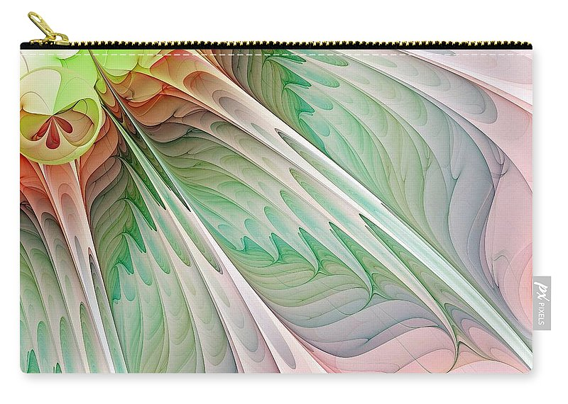Digital Art Carry-all Pouch featuring the digital art Petals by Amanda Moore