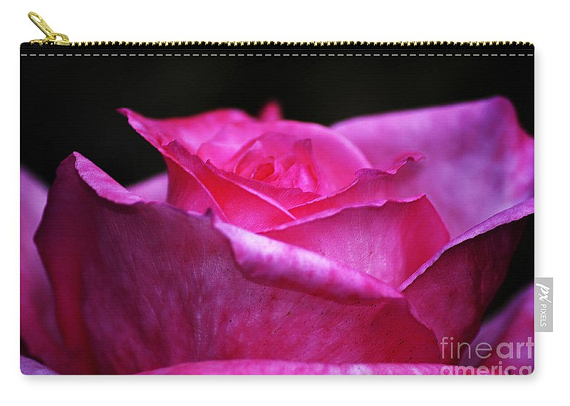 Clay Carry-all Pouch featuring the photograph Pink Rose by Clayton Bruster