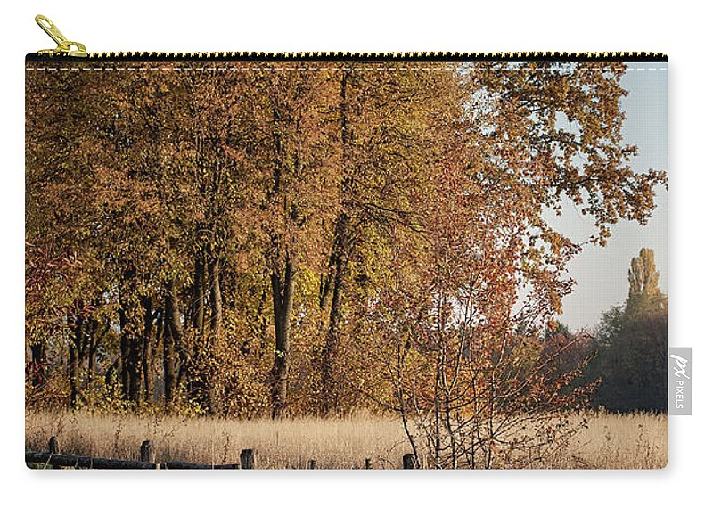 Nature. Landscape . View . Autumn . Village. Architecture. Ukrai Carry-all Pouch featuring the photograph Pirogovo by Oleg Karataev