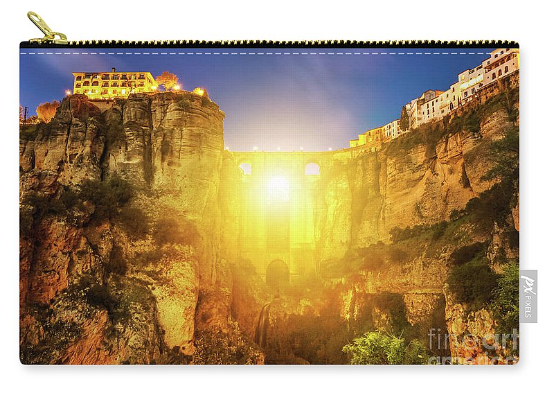 Spain Carry-all Pouch featuring the photograph Puente Nuevo Ronda by Benny Marty