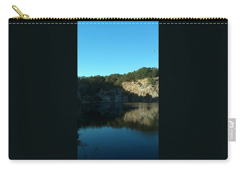 Granite Carry-all Pouch featuring the photograph Quarry Summer by Harriet Harding