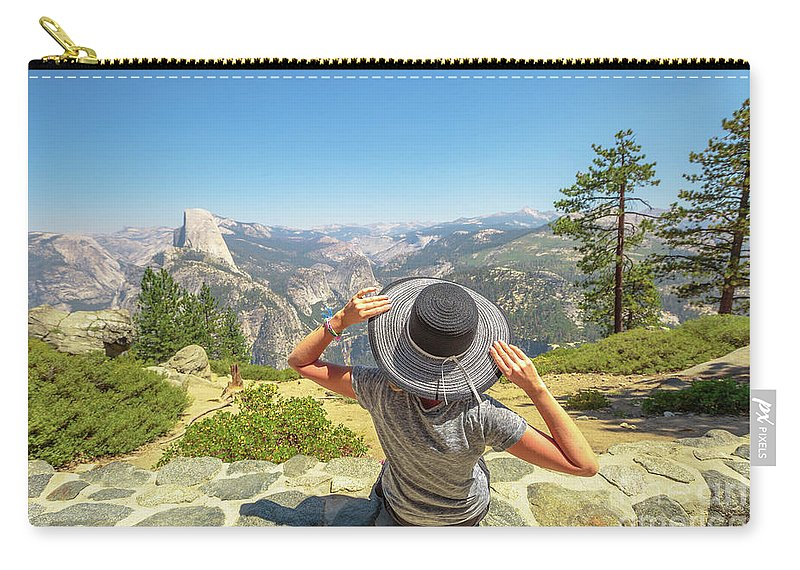 Yosemite Carry-all Pouch featuring the photograph Relaxing At Glacier Point by Benny Marty