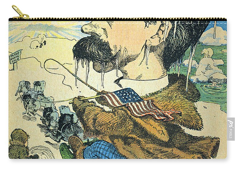 1902 Carry-all Pouch featuring the painting Robert Peary (1856-1920) by Granger