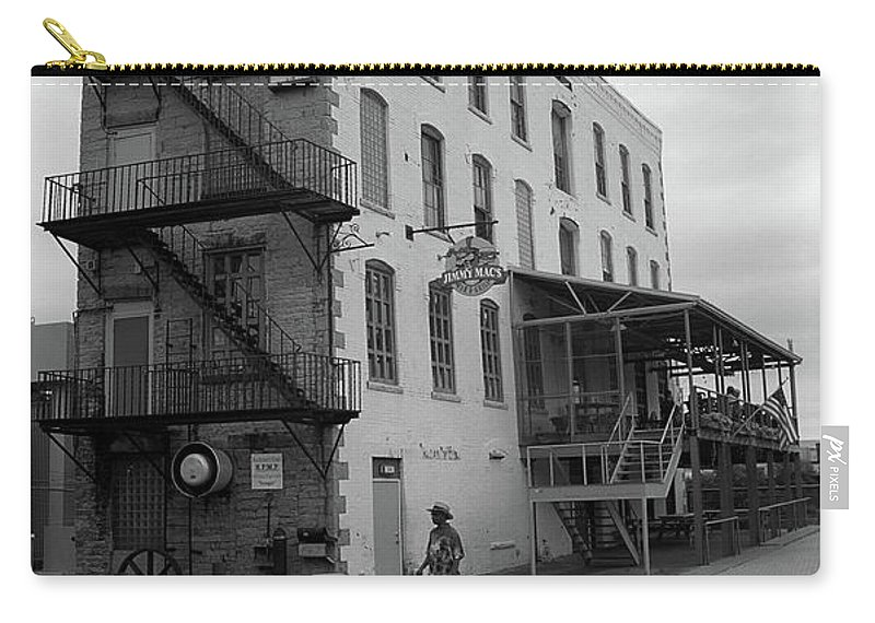 Alcohol Carry-all Pouch featuring the photograph Rochester New York - Jimmy Mac's Bar by Frank Romeo