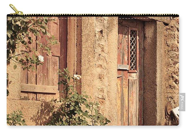 Castelo Rodrigo Carry-all Pouch featuring the photograph 2 Rua Da Tapada by Csilla Florida