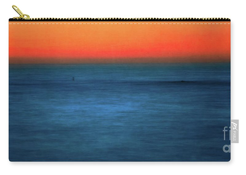 Santa Monica Carry-all Pouch featuring the photograph Santa Monica Sunset 1 by Doug Sturgess