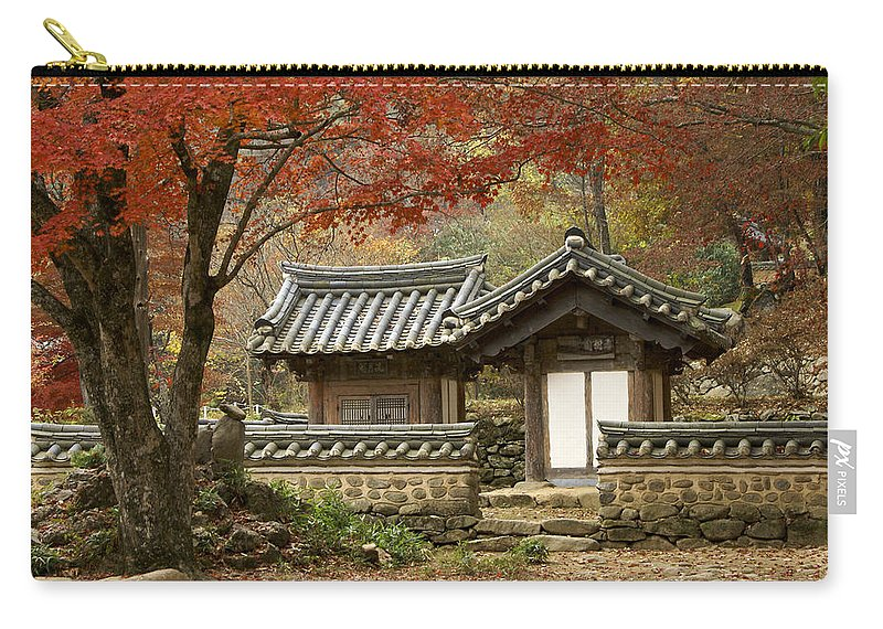 Korea Carry-all Pouch featuring the photograph Seonamsa In Autumn by Michele Burgess