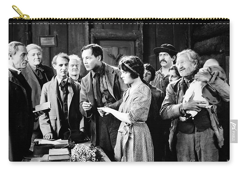 -weddings & Gowns- Carry-all Pouch featuring the photograph Silent Film Still: Wedding by Granger