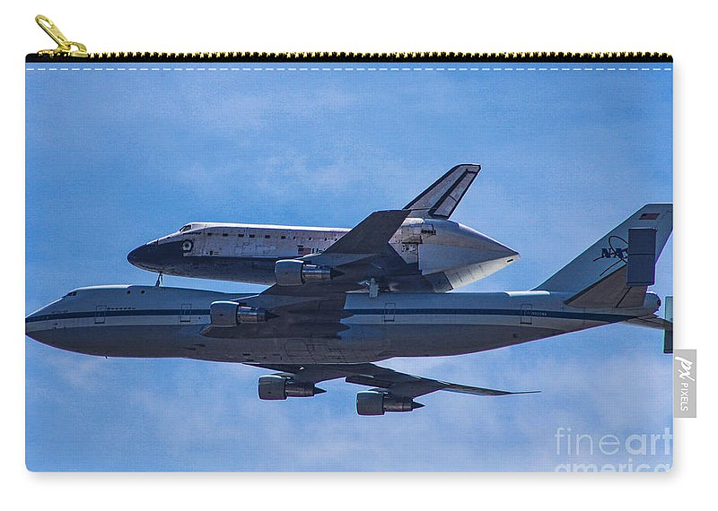 Space Shuttle Endevour Carry-all Pouch featuring the photograph Space Shuttle Endevour by Tommy Anderson