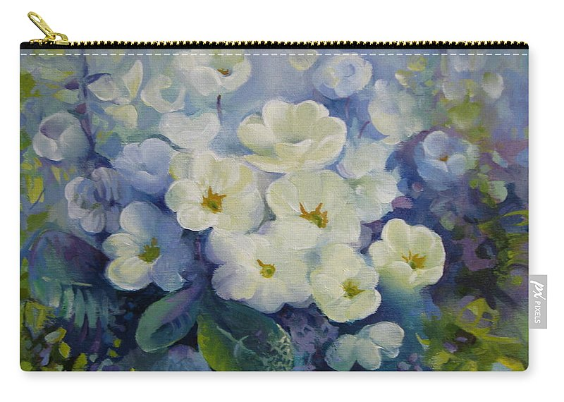 Primrose Carry-all Pouch featuring the painting Spring by Elena Oleniuc