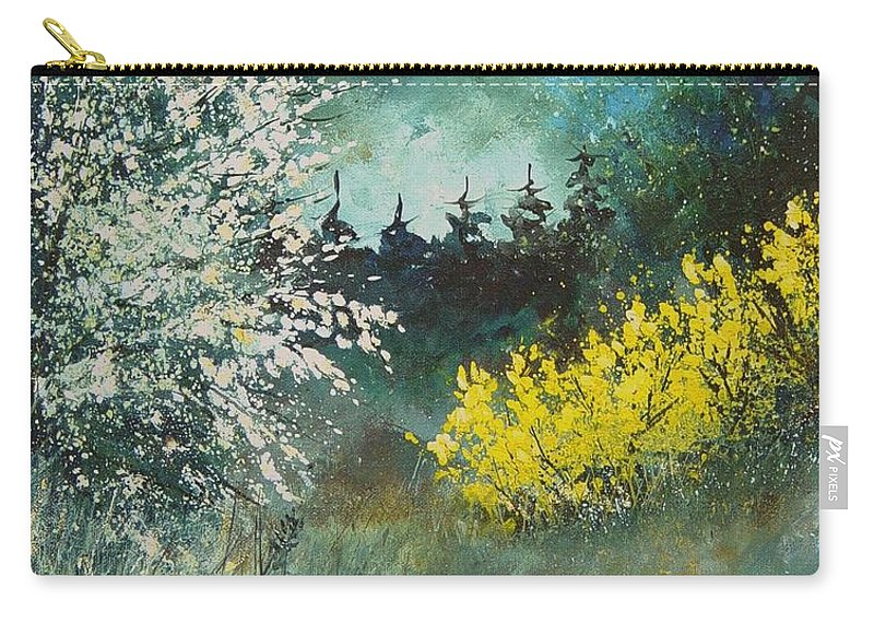 Spring Carry-all Pouch featuring the painting Spring by Pol Ledent