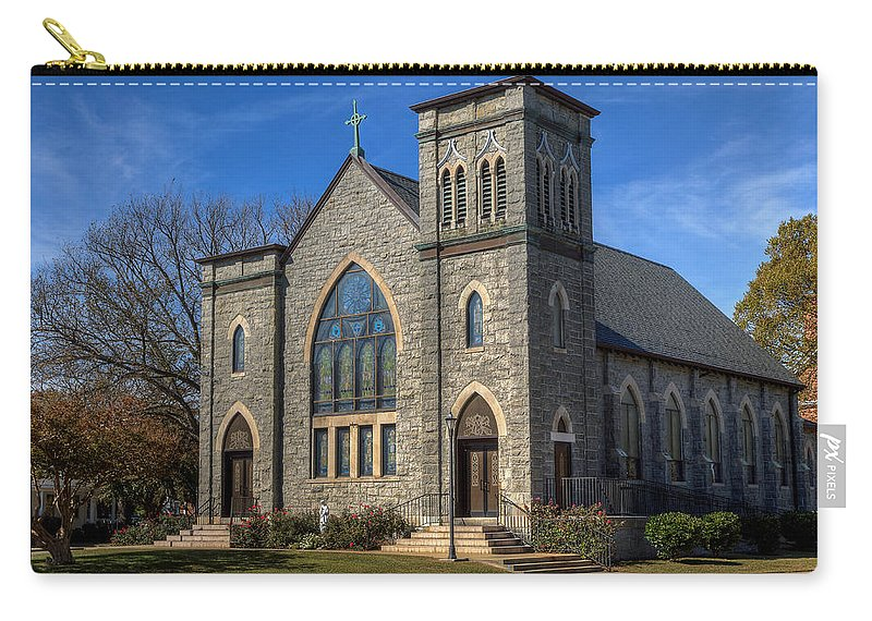 Fort Monroe Carry-all Pouch featuring the photograph St. Mary Star Of The Sea by Jerry Gammon