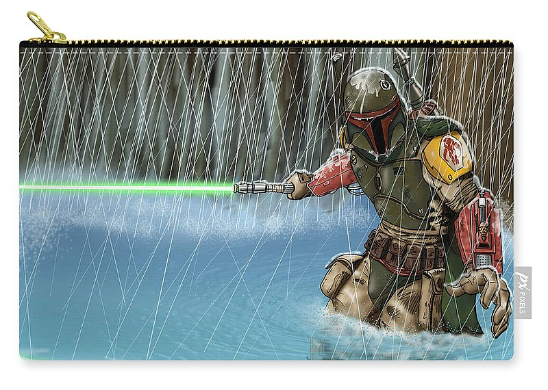 Star Wars Carry-all Pouch featuring the digital art Star Wars by Dorothy Binder