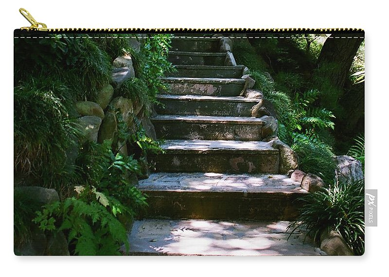 Nature Carry-all Pouch featuring the photograph Stone Steps by Dean Triolo