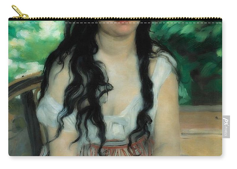 Painting Carry-all Pouch featuring the painting Summer by Auguste Renoir