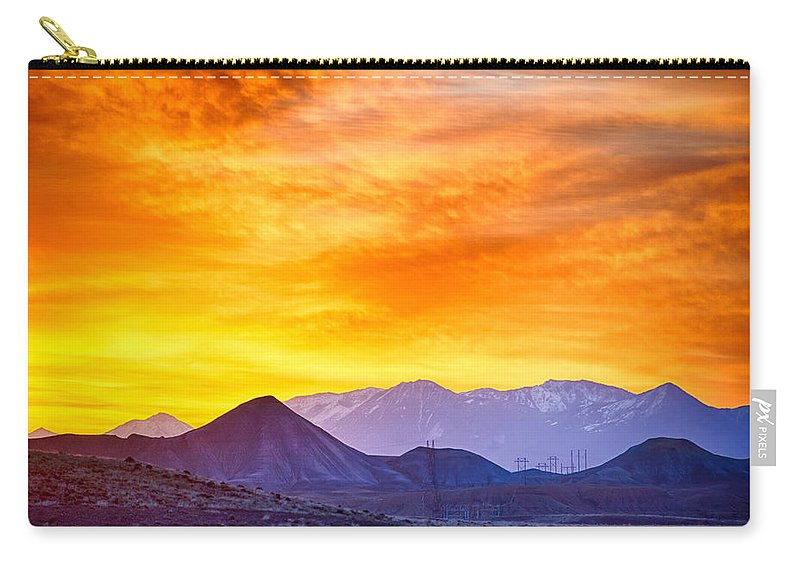 Colorado Carry-all Pouch featuring the photograph Sunrise Over Colorado Rocky Mountains by Alex Grichenko