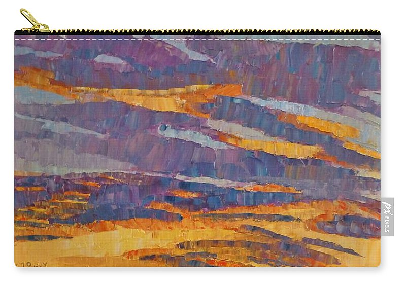 Sunset Carry-all Pouch featuring the painting Sunset On Paseo by Susan Tormoen