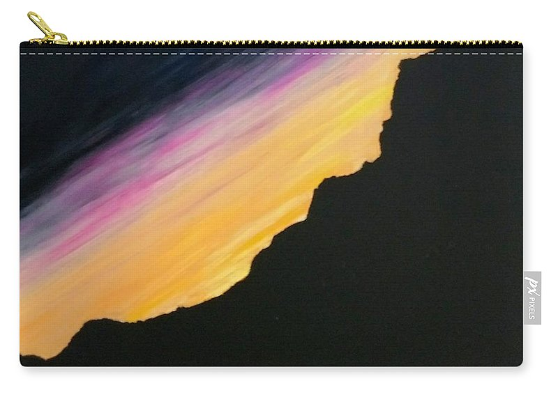 Gravitational Realism Carry-all Pouch featuring the painting Sunset Silhouette by Kevin Daly