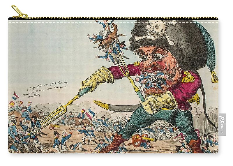 Cruikshank (isaac) Gen.l Swallow Destroying The French Army Carry-all Pouch featuring the painting Swallow Destroying The French Army, by MotionAge Designs