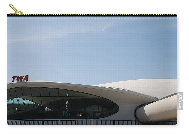 Architecture Carry-all Pouch featuring the photograph T W A Terminal by Rob Hans