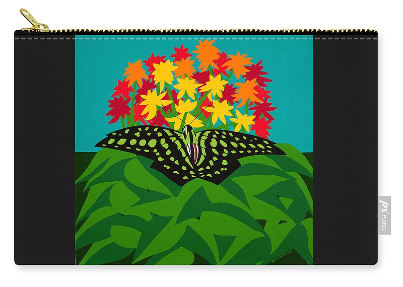 Butterflies Carry-all Pouch featuring the painting Tailed Jay by Synthia SAINT JAMES