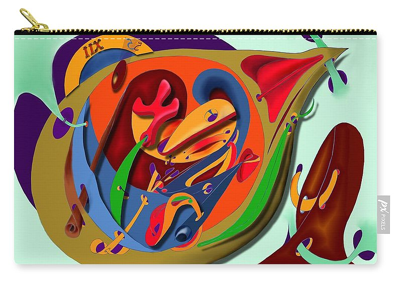 Time Carry-all Pouch featuring the digital art Tempus Fugit by Helmut Rottler