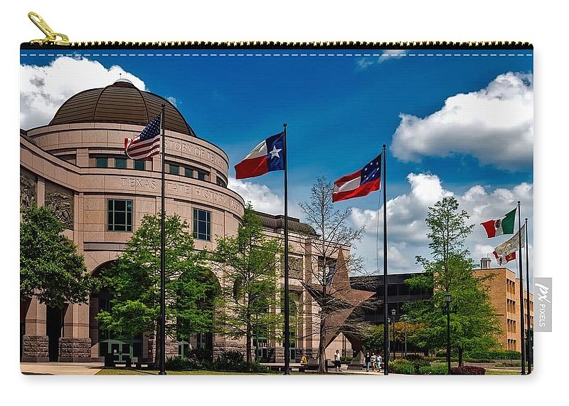 Bullock Texas State History Museum Carry-all Pouch featuring the photograph The Bullock Texas State History Museum by Mountain Dreams