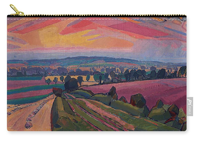 Painting Carry-all Pouch featuring the painting The Icknield Way by Mountain Dreams