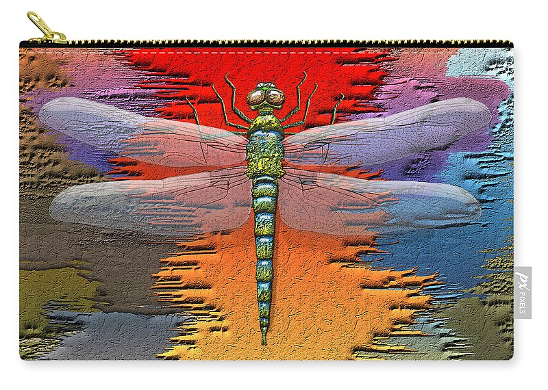 Beasts Carry-all Pouch featuring the photograph The Legend Of Emperor Dragonfly by Serge Averbukh