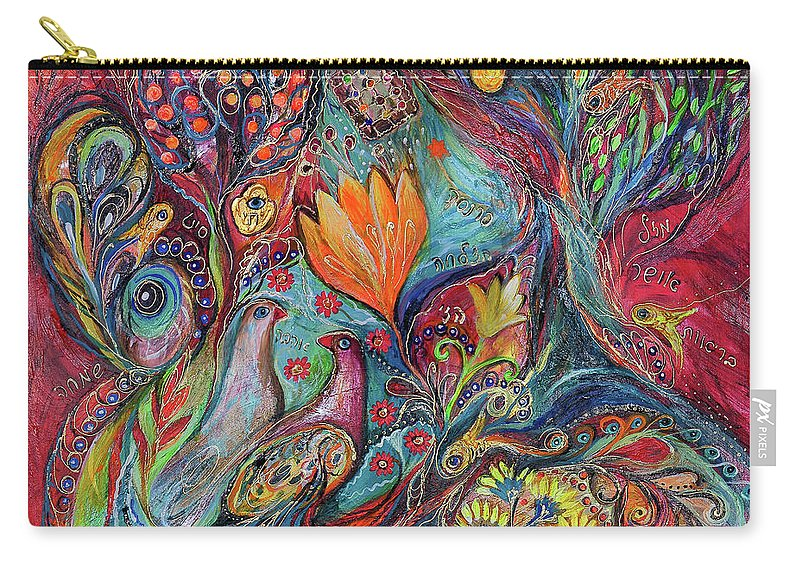 Original Carry-all Pouch featuring the painting The Magic Garden by Elena Kotliarker