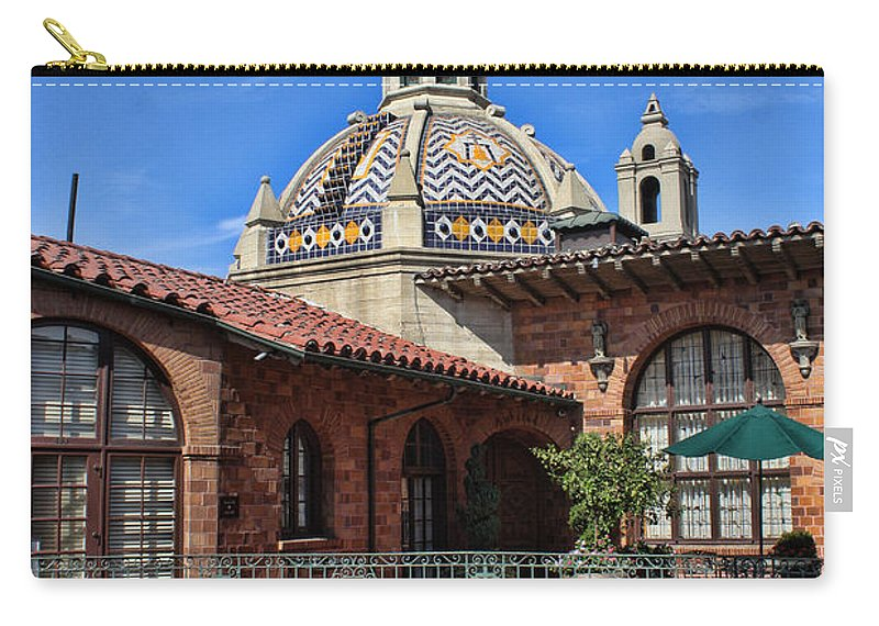 Mission Inn Carry-all Pouch featuring the photograph The Mission Inn by Tommy Anderson