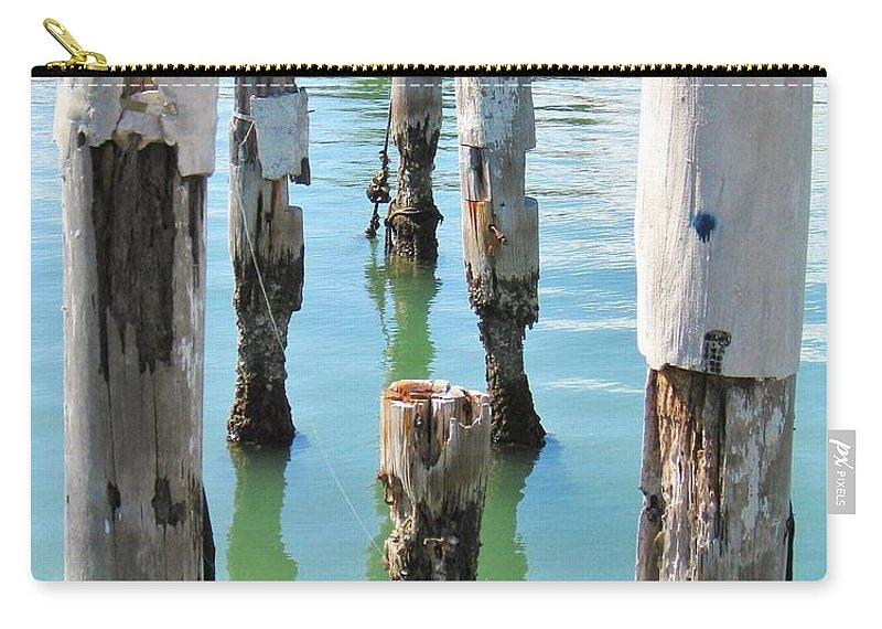 Docks Carry-all Pouch featuring the photograph The Signs Of Time by Rene Triay Photography