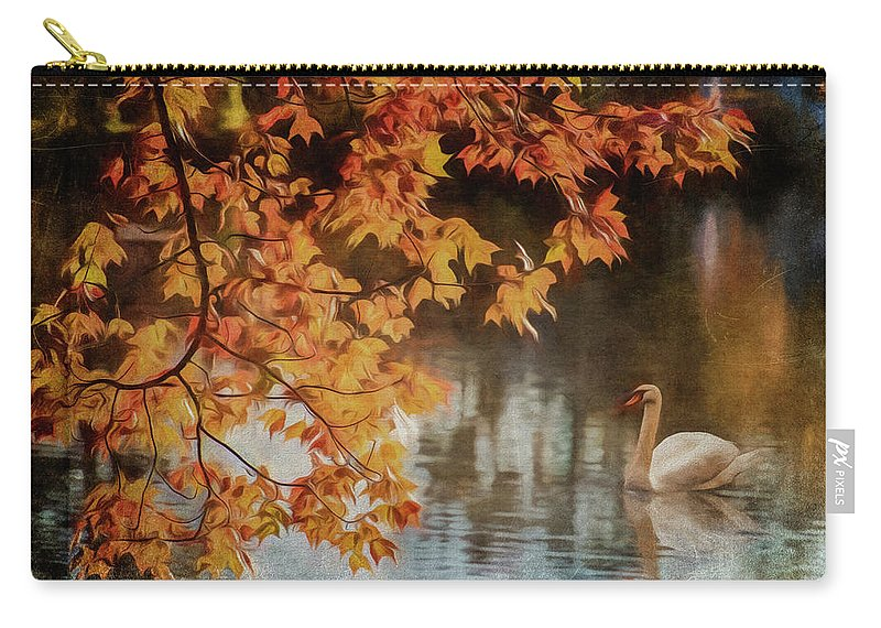 Swan Carry-all Pouch featuring the photograph The Swan by Cathy Kovarik