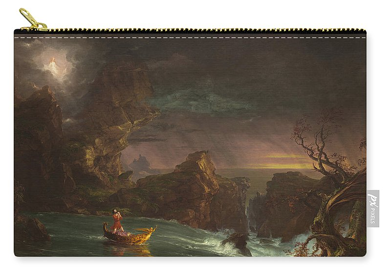 Thomas Cole Carry-all Pouch featuring the painting The Voyage Of Life by MotionAge Designs
